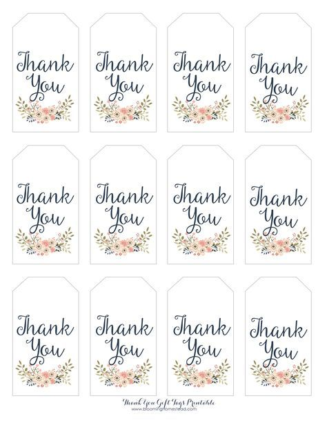 thank you gift tags homesteads gift and appreciation