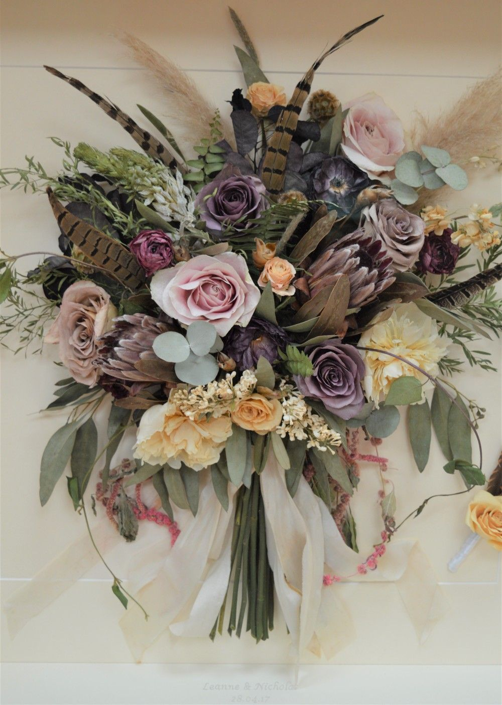 A Close Op Of One Of Our Beautiful Preserved Winter Flower Bouquet