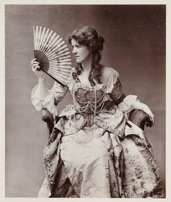 Image result for victorian lady with fan