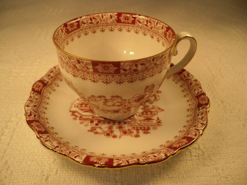 Seltmann Weiden Cup/Saucer Bavaria W. Germany Red Print Perfect Condition $9.99