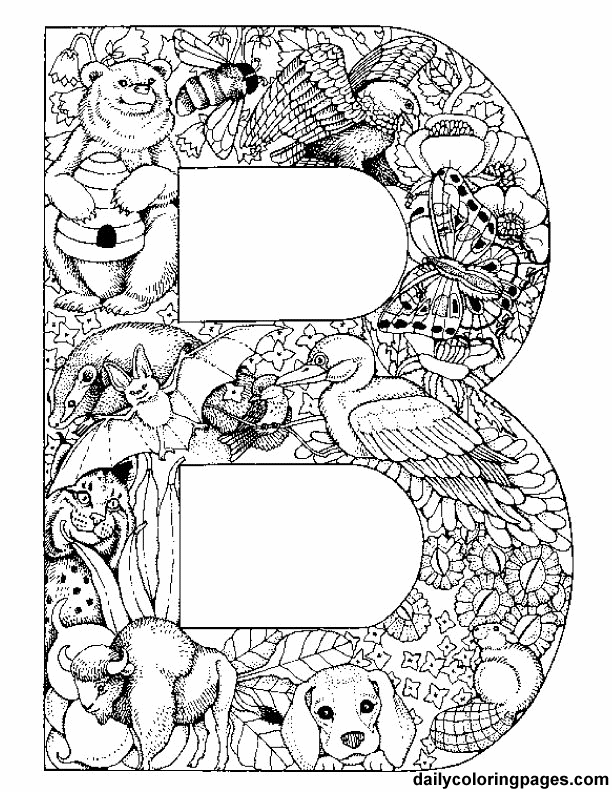 Free Printables of Initials Each initial is filled with
