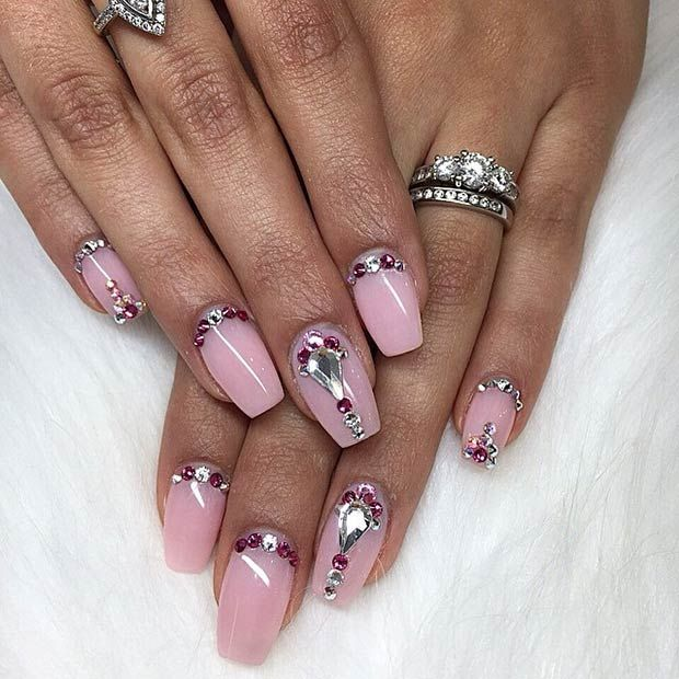 50 Best Nail Art Designs from Instagram | Light pink nails, Pink ...