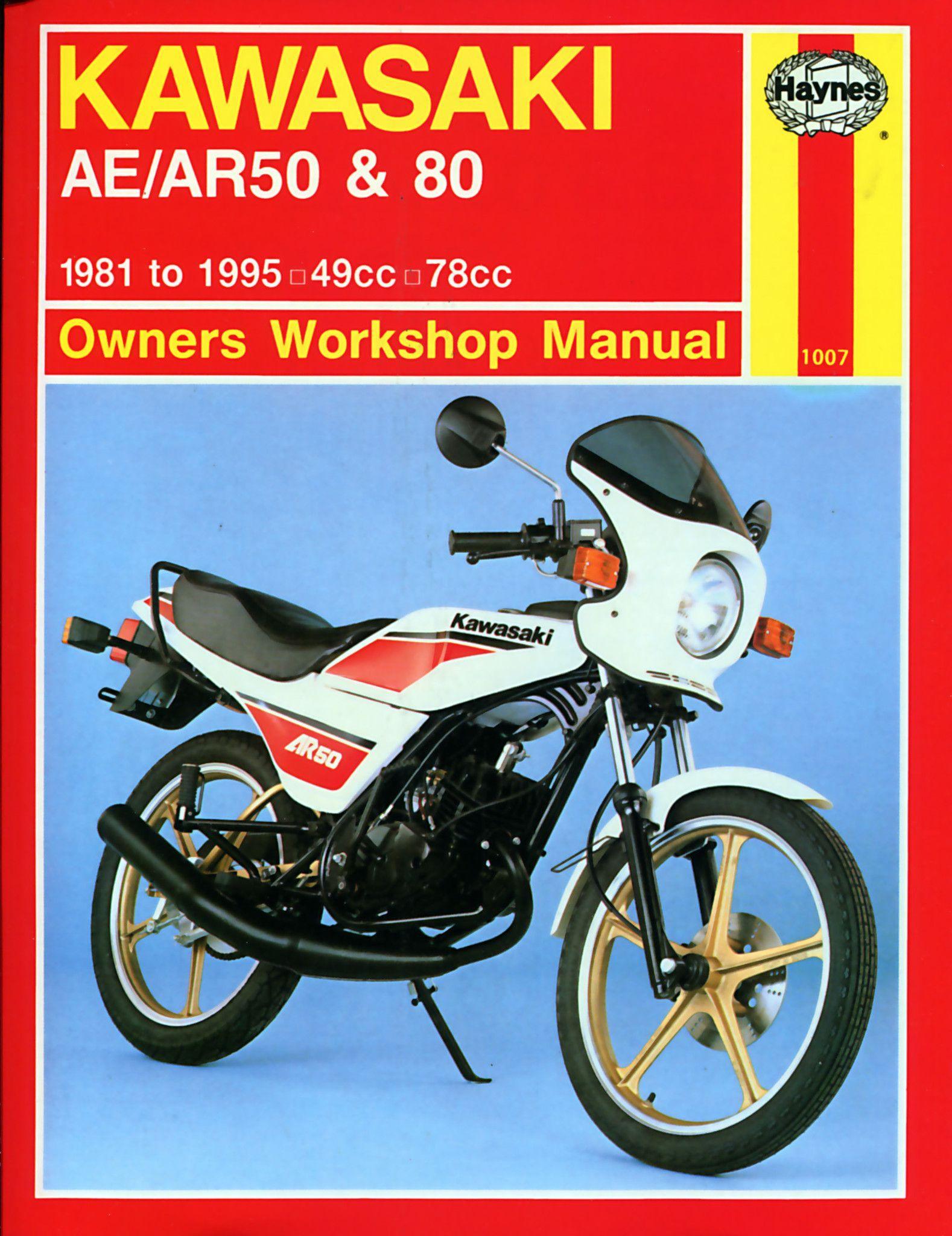haynes m1007 repair manual for 1981-82 kawasaki ar50 and ar80