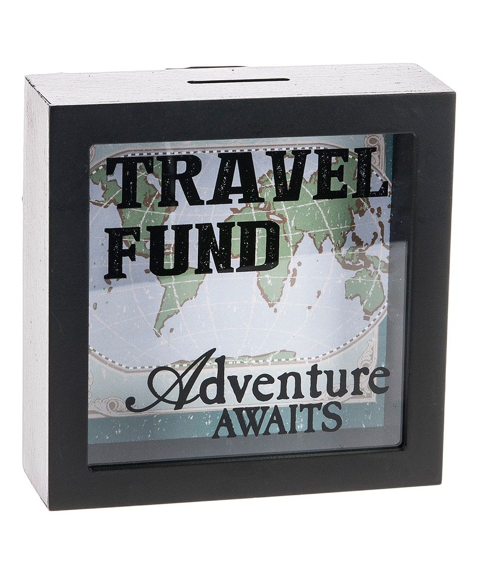 This 39 travel fund 39 shadowbox bank by ganz is perfect for Travel fund piggy bank