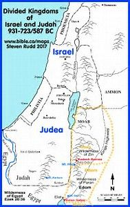 Map Of Israel Divided Kingdom Image result for map  old testament israel  divided kingdom