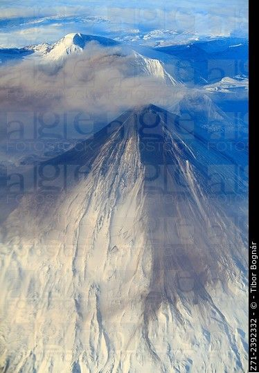 Russia, Kamchatka Peninsula, volcano, aerial view. ©  Tibor Bognár / age fotostock - Stock Photos, Videos and Vectors