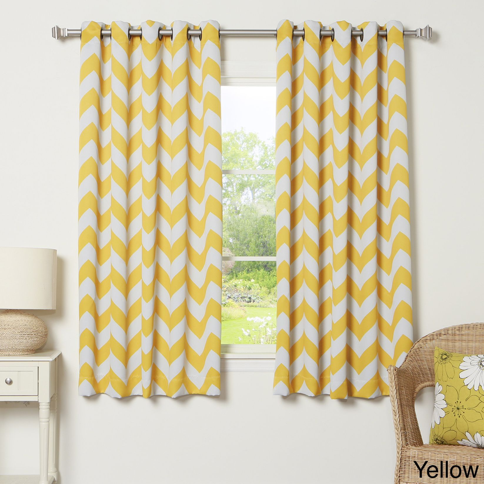 Window top decor  contemporary chevron patterns are a simple and modern addition to