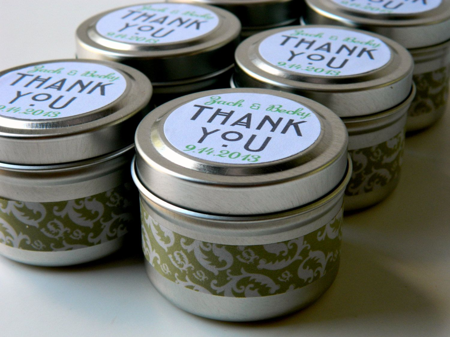 custom bridal shower thank yous qty 25 bridal shower soy candle favors wedding favour fall winter wedding
