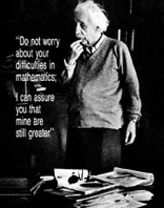 Inspirational Math Quotes Albert Einstein