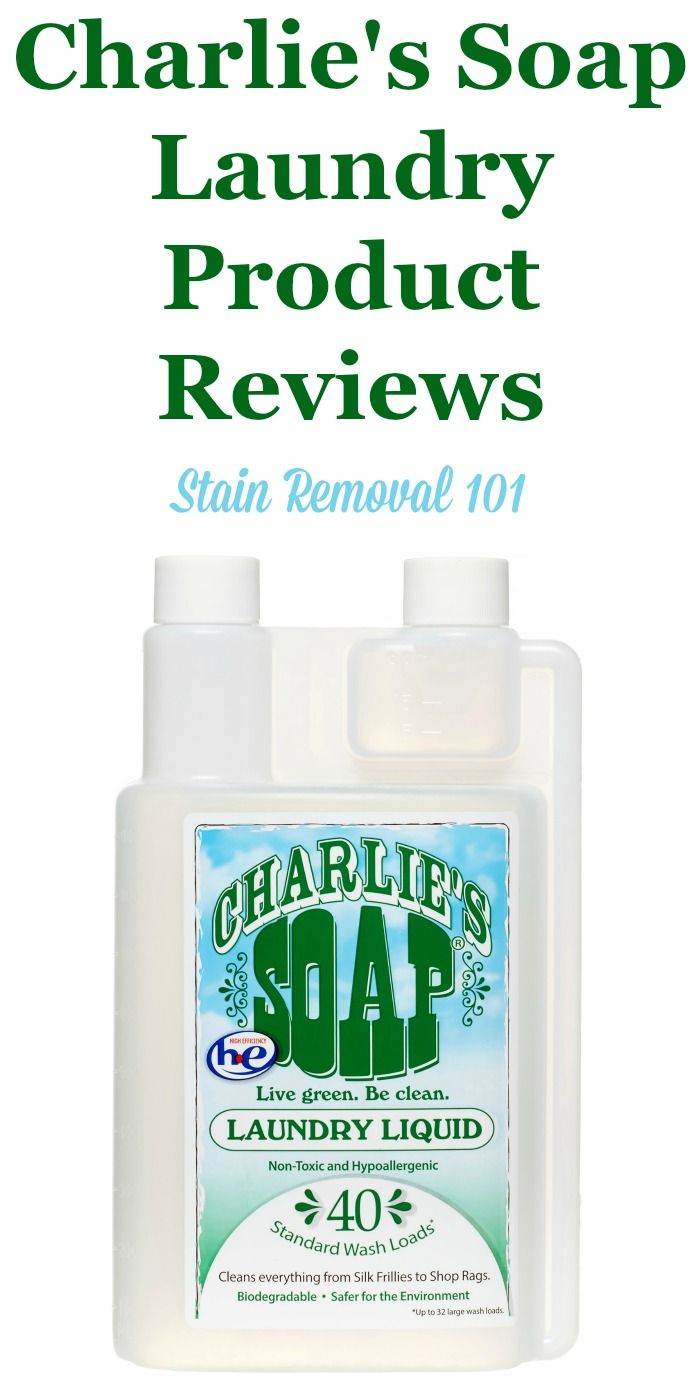 Charlie S Soap Reviews Ratings And Information Laundry