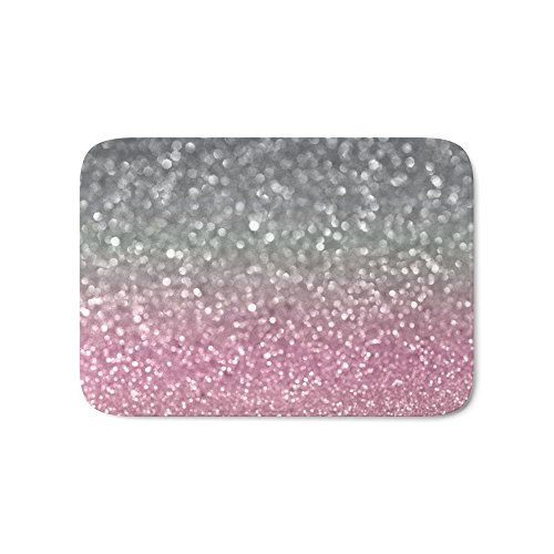 Society6 Gray And Light Pink Bath Mat 17