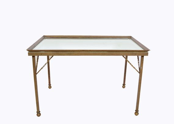 Brass Mirrored Cocktail Table1960 Mid Century by HearthsideHome, $195.00