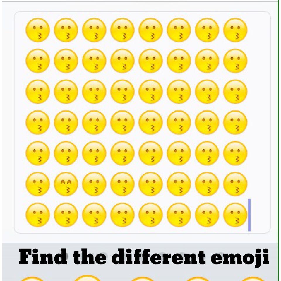 Try To Find The Different Emoji Emoji Games Emoji Emoji Party