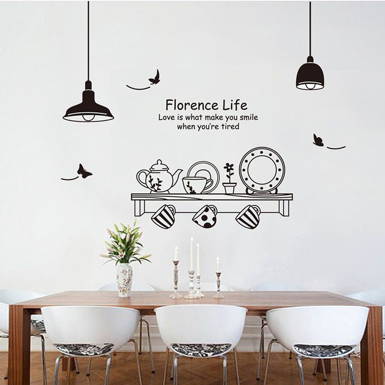 Removable Art Vinyl Kitchen Style Diy Wall Sticker Decal Mural