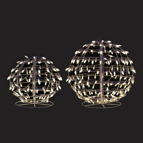 Energy Best Twinkling 18 and 24 LED Snowball Sculpture Outdoor