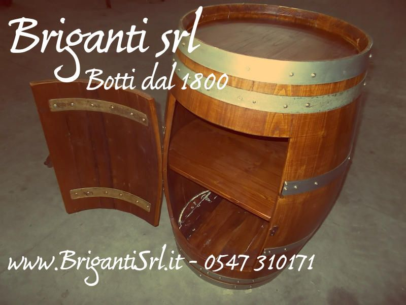 Botte Arredamento ~ 2095 portabottiglie rustico da botte briganti srl briganti