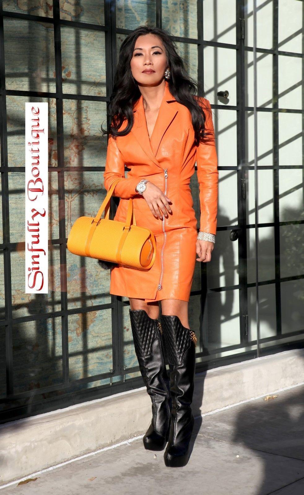 Sexy Lederkleid¦ Lederdress¦ Partykleid¦ Echtleder Kleid¦ Leather ...