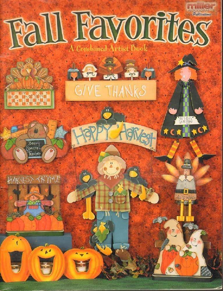 Fall Favorites Miller Woodcrafts Tole Decorative Painting Book