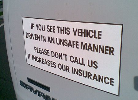 Funny Magnet Sign On A Vehicle If You See This Vehicle Driven In