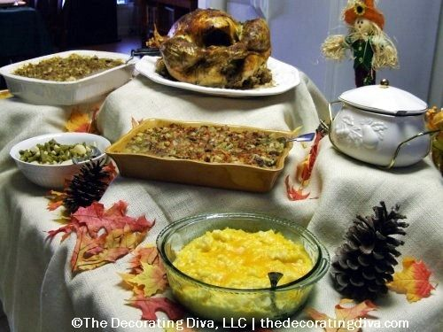 Pix For Thanksgiving Buffet Table Setting Ideas Thanksgiving