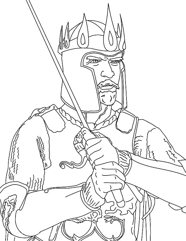 King Arthur Coloring Pages Kids Play Color In 2020 Coloring Pages Color Coloring Pictures