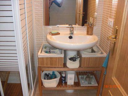 Lavavos con pie soluciones econ micas muebles de ba o - Muebles de lavabo ikea ...
