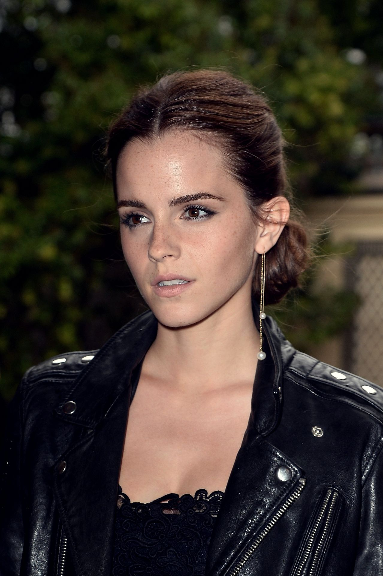 Emma Watson With Practically A Bare Face