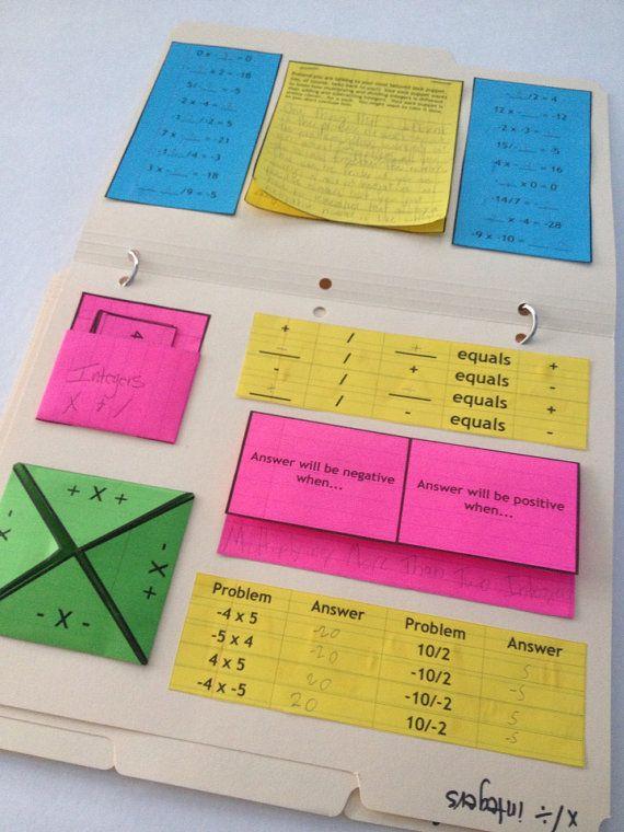 Integers Math Activity Multi Pack  4 Activity by NerdintheBrain, $12.99