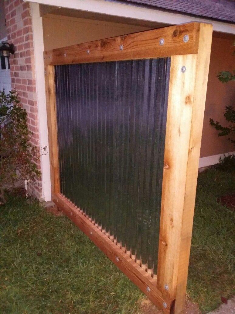 Pin By Dezi Garcia On Cedar Wood Corrugated Metal Fence Metal Roof Diy Roofing Modern Roofing