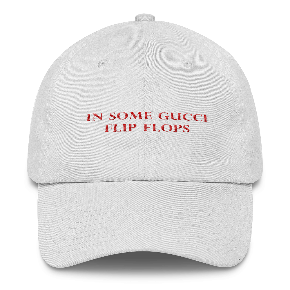 51aaf95a2a15 In Some Gucci Flip Flops Dad Hat