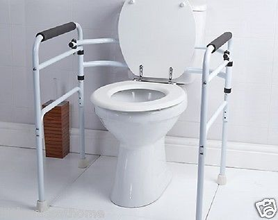 Folding Toilet Support Safety Mobility Disability Aid Handle Grab