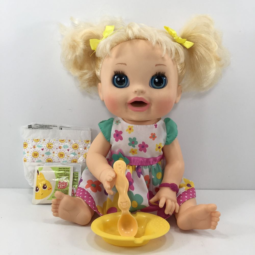 2012 Baby Alive Doll Real Surprises Moves Talks English Spanish Blonde 07 Lindo