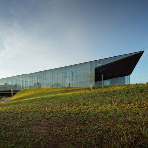 Estonia's+wedge-shaped+national+museum+opens+on+former+Soviet+airbase