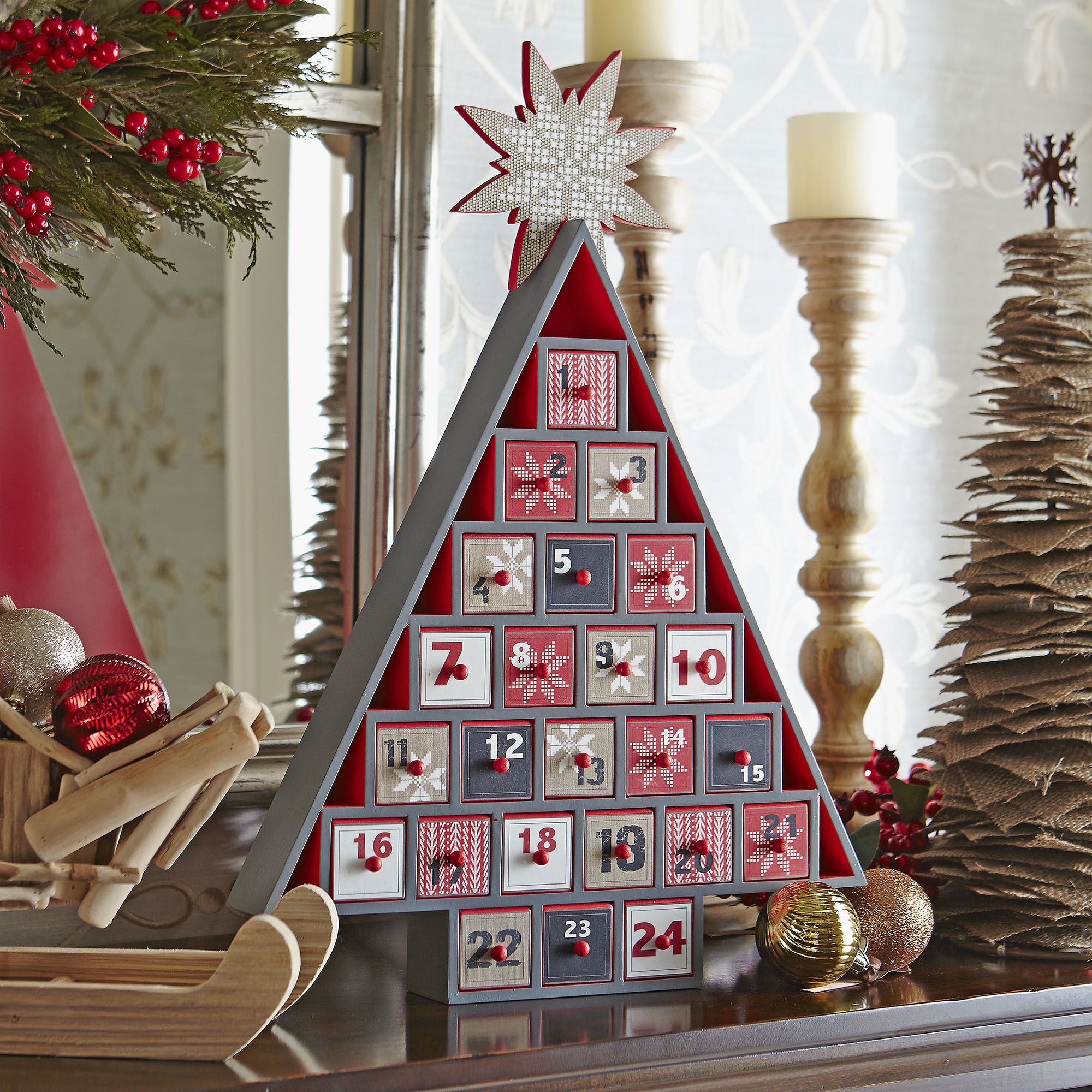 Advent Calendar Tree - Count Down The Days To Christmas