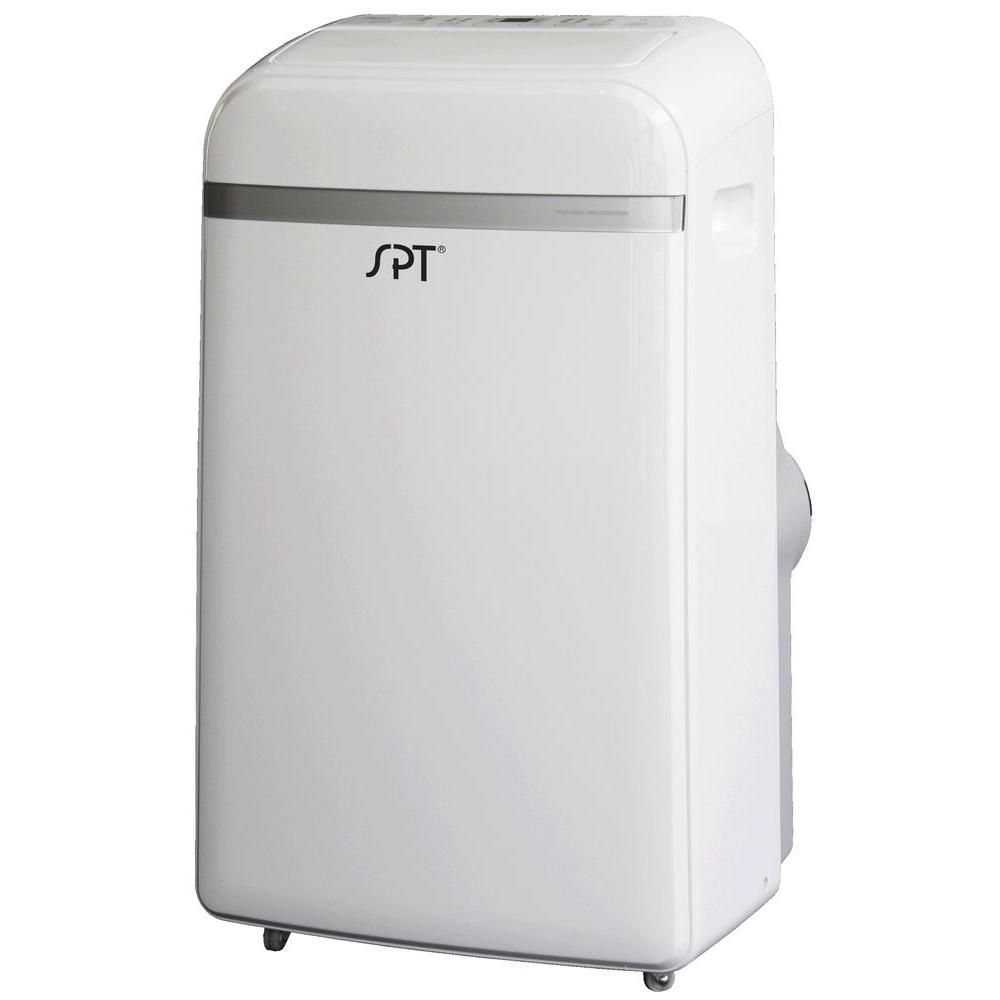 Spt 14 000 Btu Portable Air Conditioner With Heat Wa 1420h Air Conditioner With Heater Dehumidifiers Heating Cooling