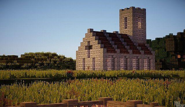 Simple Church Minecraft Project Minecraft Minecraft Minecraft Projects Minecraft Buildings