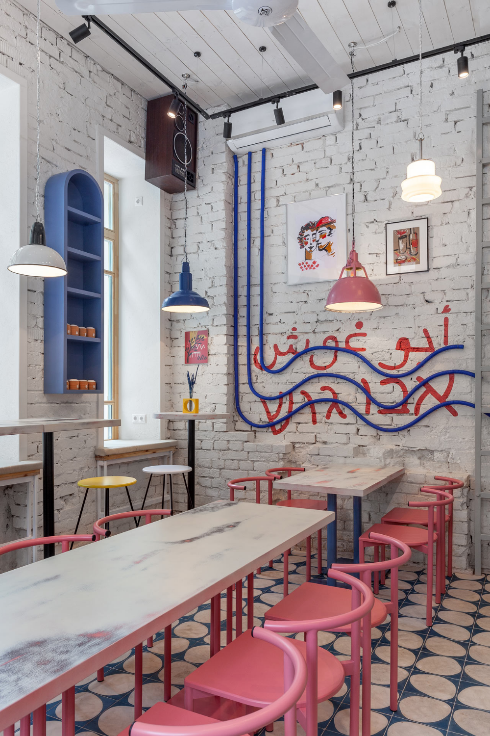 A Colorful Street Food Restaurant Concept in Moscow - Design Milk
