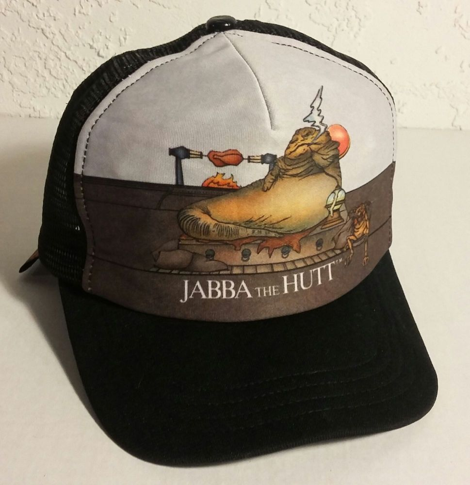 Original RETRO 1983 STAR WARS COLLECTION Jabba The Hutt Snapback Truckers  Hat a70b1c3b81ab
