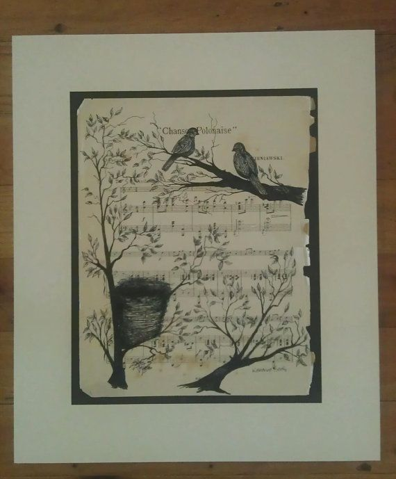 A love birds first home. By Kat Banks. by avintagesparrowsnest, $70.00