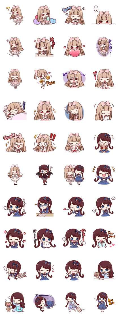 Fancy Dolls - LINE Creators' Stickers