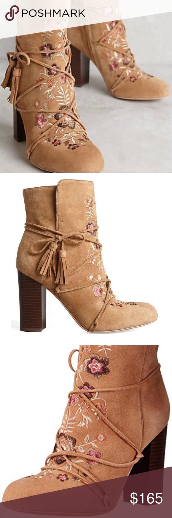 3caba56d6 NWOB Sam Edelman Winnie Floral Ankle Boots Size 8 Brand New Without Box Sam  Edelman Winnie