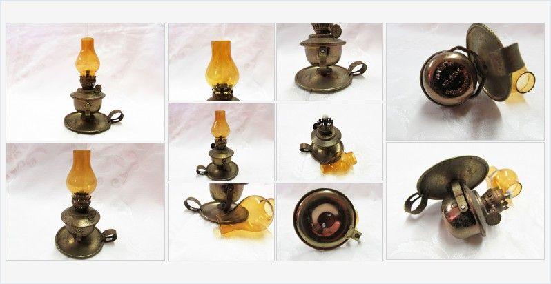 #Miniature #FingerLamp #AmberGlass Chimney #vintage #gotvintage #collectible #decor