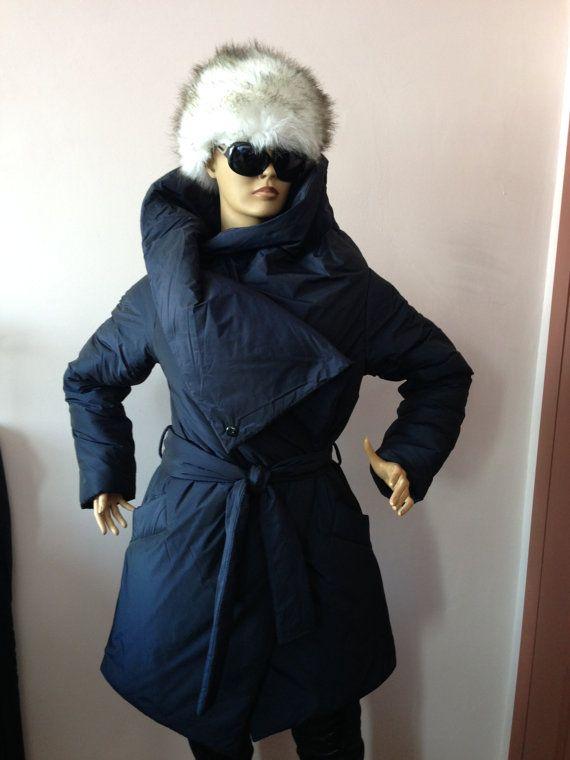 Warm winter coat,Womens wrap down coat/ Womens winter jacket ...