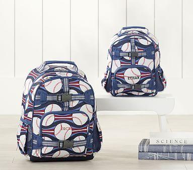 Mackenzie Navy Blue Baseball Backpack Backpacks Navy