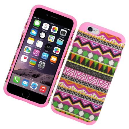 EagleCell Eggplant tribal Hard Hybrid Silicone Case For