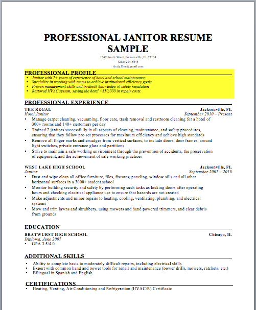 How To Write A Winning Resume Profile Resume Profile Resume Profile Examples Resume