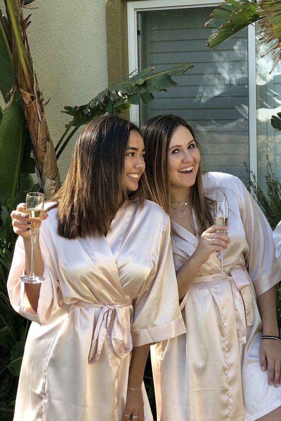 15.00 Blush Satin Bridesmaid Robes  d4a4c0858