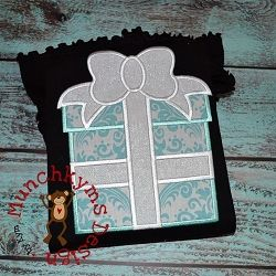 Little Blue Box Applique - 3 Sizes!   What's New   Machine Embroidery Designs   SWAKembroidery.com Munchkyms Design