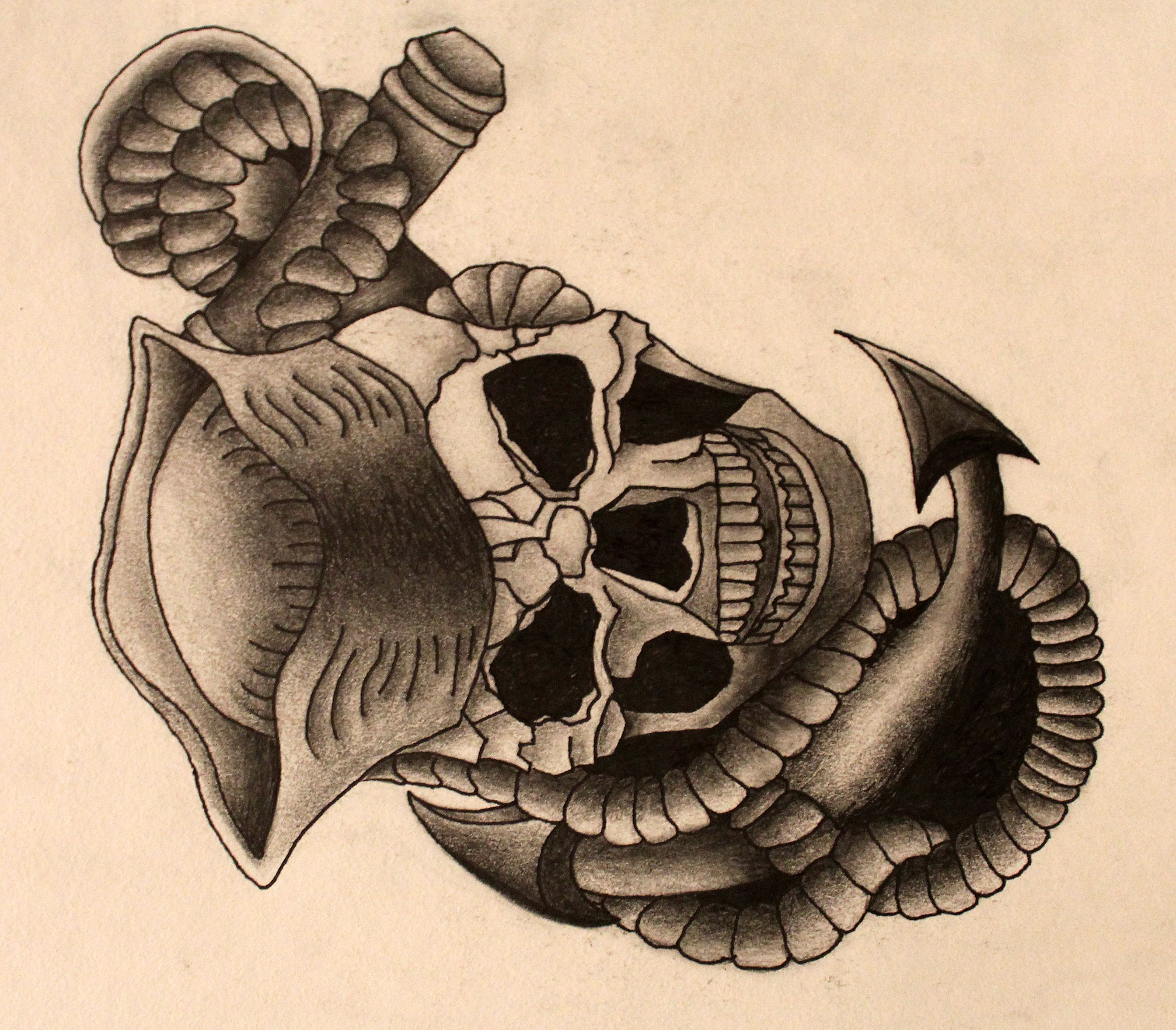 First tattoo design commission for an individual in the