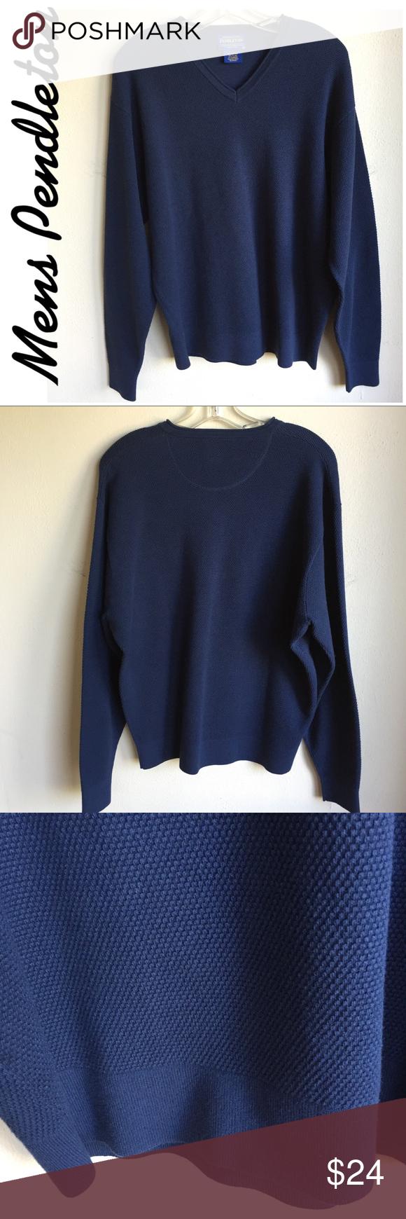 Pendleton Mens Navy L Cotton/Nylon/Spandex Sweater